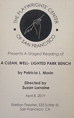 A Clean Well Lighted Park Bench program